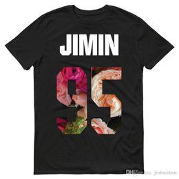 Großhandel Sommer Stil FashioKpop BTS Bangtan Jungen Jungkook V J-Hoffnung Jimin Mens Unisex T-Shirt T-Shirt Geschenk Kurzarm Rundhalsausschnitt Mode