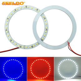 Wholesale FEELDO 2pcs lot 100mm Car Angel Eyes 1210 3528 33SMD LED Headlight Halo Ring Angel Eye Lighting White Red Blue #2672