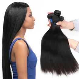 Indian Human Bulk Hair Straight Australia - Beauty On Line Indian Hair 4 Bundles Straight Human Hair Extensions Indian Virgin Hair Cheap Remy Human Weave Wholesale Unprocessed Bulk