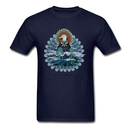 men s tattoo print shirts NZ - Mountain Crest Tshirt Digital Nomads T Shirt Men Awesome T Shirts Mandala Tees Fitted Bird Printed Clothing Chic Tattoo Designer