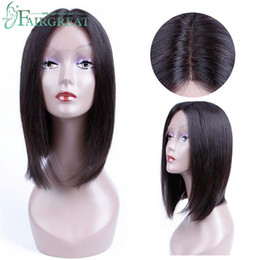 Lace weaves for bLack women online shopping - Fairgreat Lace Front Human Hair With Baby Hair Pre Plucked Brazilian Remy Hair Full End Straight Short Bob For Black Women