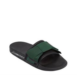 Chinese  factory outlet mens and womens unisex fashion satin Slide sandals with oversize bow 2 colors 498316 manufacturers