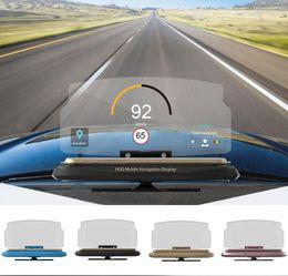 Car Heads Up Display Australia - Universal Mobile Phone GPS Navigation HUD Bracket Head Up Display For Smart Phone Car Stand Folding Holder