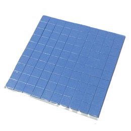 cool pads UK - High quality 10mm*10mm*1mm 100 pcs Thermal Pad GPU CPU Heatsink Cooling Conductive Silicone Pad