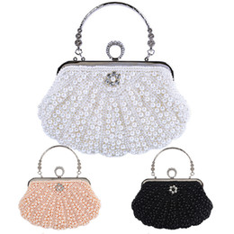 $enCountryForm.capitalKeyWord Canada - 3colors Beaded Pearl Bridal Clutch Purse Wedding Clutches Evening Hand Bags Totes Bridesmaid Clutches Ivory Wedding Clutches