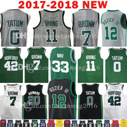 2018 Nuevo 11 Kyrie Irving 7 Jersey Jaylen Brown 0 Jayson Tatum 12 Terry Rozier 33 Larry Bird 20 Gordon Hayward 42 Al Horford The City Jerseys