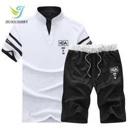 gym jogging suit men Canada - 2018 Summer Men Sportswear Gym Clothing Sport Suit Basketball Shirts Jogging Pants Beach Shorts Gym Fitness Running Sets XL-4XL