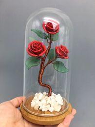 Crystals Souvenir Australia - Beautiful Red cinnabar rose Crystal tree vermilion quartz Lucky tree Specimen Healing Collection of gifts reki Fengshui