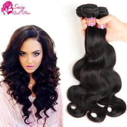 Indian Straight Hair Girls Canada - Indian Hair Extension Straight Human Hair Weave 4 Bundles Virgin Indian 8-28 Inch Weave Indian No-Remy Hair Extensions Weft SASSY GIRL