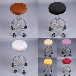 $enCountryForm.capitalKeyWord NZ - solid round chair covers bar stool covers elastic seat cover home chair slipcover bar stool chair protector