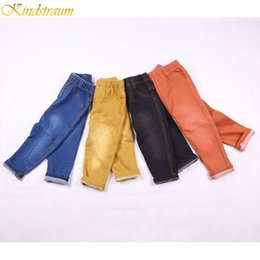 denim style for babies 2019 - Kindstraum 2018 Kids 4 Colors Jeans Spring & Summer Style Fashion Denim Pants CottonTrousers for Baby Boys & Girls, MC11
