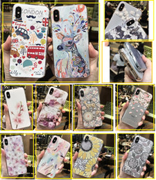 $enCountryForm.capitalKeyWord UK - For iPhone 7 cell phone cases Japan cherry blossom 3D flower painted TPU Cases For 6S 7 8 Plus Back protective Cover shell phone cases