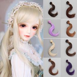 Discount bjd hair accessories - Apaffa 15cm 1 PCS Fashion Synthetic Doll Big Wavy Curly Hair For Dolls Wig DIY Bjd 1 4 Accessories Hair For Doll