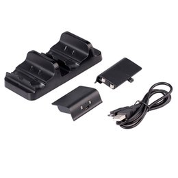 Wireless Controller Battery Canada - Original Dual USB Chargeing Dock Station For X-ONE + 2 Rechargeable Battery Charger for Xbox One Wireless Controller Accessories 7