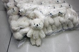 China 50PCS LOT Kawaii Small Joint Teddy Bears Stuffed Plush With Chain 12CM Toy Teddy-Bear Mini Bear Ted Bears Plush Toys Gifts Christmas gif suppliers