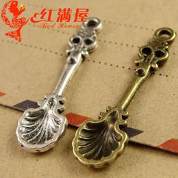 Cheap Accessories Charms NZ - A3829 9*33MM Antique Bronze factory accessories wholesale manufacturers cheap spoon charms lot, tibetan silver charm necklace pendants
