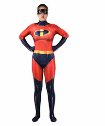 7ac83332f Mr. Incredible Bob Parr Cosplay Costume The Incredibles 2 Jumpsuit Men 3D  Printed Zentai Red Bodysuit Halloween Carnival Outfit