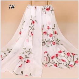 $enCountryForm.capitalKeyWord Australia - Free shipping Floral Chiffon Scarf Muslim Hijab Muffler Head Wrap High Quality Scarves Tassel Shawl New Hot Sale Big Size