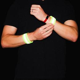Wrist Band Cycling Australia - 1Pair Reflective Sport Wristband Bracelets Ankle Wrist Wrap Arm Band Running Night Cycling Jogging Safety Reflector Armband