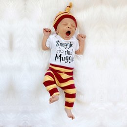 $enCountryForm.capitalKeyWord Australia - 2018 Fashion Baby Boy Clothes Newborns Summer Cotton short Sleeve stripe baby romper Casual suit baby girls Clothing Outfits