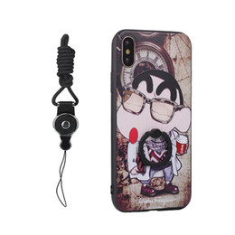 $enCountryForm.capitalKeyWord UK - Cute Cartoon pattern Lanyard Design Protective Hard Case With TPU Bumper And 360 Degree Rotating Ring Holder For iphoneX