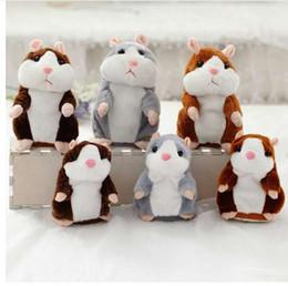 Groihandel Dropshipping Förderung 15 cm Schöne Sprechen Hamster Sprechen Sprechen Schallplatte Wiederholen Gefüllte Plüschtier Kawaii Hamster Spielzeug