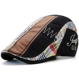 9bcef48e5630f Gorra de pato de algodón Gorro plano Vendedor de periódicos Ivy Cabbie  Drving Sombrero Caza Golf