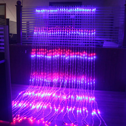China 3X3M 320 LED Waterfall Snowfall Curtain Icicle LED String Light Meteor Shower Rain Effect String Light Christmas Wedding cheap waterfall curtain christmas lights suppliers