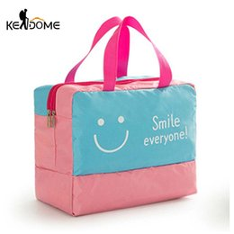 $enCountryForm.capitalKeyWord Canada - Waterproof Dry Wet Separation Swimming Bag Smile Printing Outdoor Sports Beach Bath Storage Bags for Shoes Women Fitness XA370WD