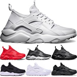 a17a8ad6f5c7 Huarache Ultra Running Shoes 4.0 1.0 Men Women Triple White Core Black Red Huaraches  Cheap Mens Sport Sneaker Size 5.5-11