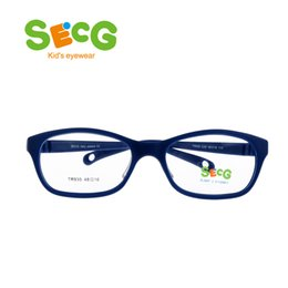 Wholesale SECG Round Big Kids Frame Flexible Soft Optical Glasses Frame Comfortable Nose Pads Rubber Strap Spectacle Eyeglasses Lunettes