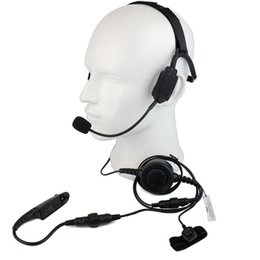 TacTical headseTs pTT online shopping - Finger PTT MIC Military Bone Conduction Tactical Headphone Headset for Motorola GP328 HT1250 Radio Walkie Talkie C2224A