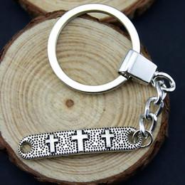 $enCountryForm.capitalKeyWord NZ - 6 Pieces Key Chain Women Key Rings For Car Keychains With Charms Cross Connector 39x8mm