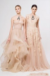 $enCountryForm.capitalKeyWord Australia - 2019 New Cheap Vintage A Line Latest Blush Wedding Bridal Dress Gown Deep V Cap Sleeves Pink Lace Applique Tulle Sheer Wedding Dresses