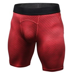 Discount men cycling tights - Men Running Shorts Gym Clothing Compression Tights Short Sports Basketball Cycling Soccer Joggers Leggings Quick Dry Tro