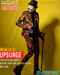 $enCountryForm.capitalKeyWord Canada - Man han edition of the new fashion trend anchor bar singer stage costumes dance clothing gorgeous graffiti suit jacket M - 2 xl