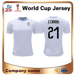 9a8d777dc 2018 Direct Selling Sale Men World Cup Uruguay Soccer Jersey Away White  National Team Shirt 9 L.suarez 21 E.cavani Custom Football Uniforms