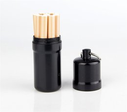 Mini caja de cigarrillo creativa portátil caso de cigarrillo de aleación de aluminio con llavero cajas de almacenamiento / contenedores para cigarrillo