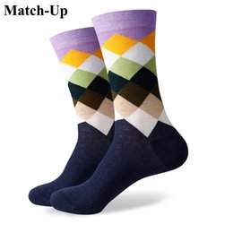 $enCountryForm.capitalKeyWord Canada - 2016 new men colorful combed cotton socks Diamond styles,geometric socks,US size(7.5-12) 362