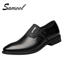 Chinese  Spring Autumn Men Formal Wedding Shoes Luxury Men Business Dress Shoes Loafers Pointy Big Size 38-44 mx5 manufacturers