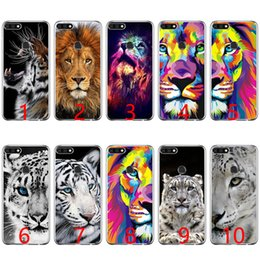 Snow White Phone NZ - Big Lion On Stone Snow Soft Silicone Phone Case for Huawei P8 P9 Lite 2015 2016 2017 P10 20 Lite P Smart