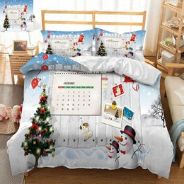 3d christmas bedding 2019 - bed set luxury Twin king Queen 3D bedding sets bedsheet Pillowcase duvet bed cover Beautiful Christmas tree decorate Bed