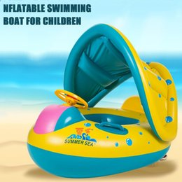 $enCountryForm.capitalKeyWord NZ - Trumpet Shape Safety Baby Infant Swimming Float Inflatable Adjustable Sunshade Seat Boat Ring Swim Pool Accessories
