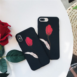 3d silicone iphone plus case online shopping - 3D Emboss Flower Phone Case For Iphone X XR XS Max Soft TPU Silicone Cover For Iphone Plus