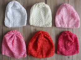 Knitted Hair Hat NZ - 100pcs 11 colors Elastic Crochet Hats for 0-24 Months Babies Hair Accessories,Spandex Knit Hat for Babies