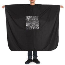 Discount hair cutting cape hairdressing - 160x136cm Pro Salon Cape Cover Wrap Hair Cutting Clothes with Square Window Play Phone Gown Hairdressing Barbers Styling