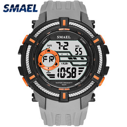 $enCountryForm.capitalKeyWord Canada - SMAEL New Sport Watch Men Big Dial Watches Mens LED Digital Wristwatch 50m Waterproof S Clock relojes hombre 2018