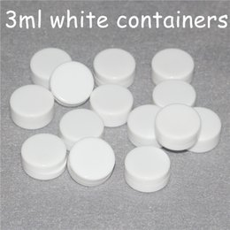 Silicone Toys Australia - Nonstick White Wax Containers silicone box 3ml Silicon container Non-stick food grade wax jars dab storage jar oil holder for vaporizer vape