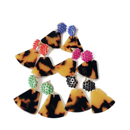 Wholesale New Design Geometry Tortoise Resin Leopard Print Stud Earring Small Cute Candy Colors Stud Earring