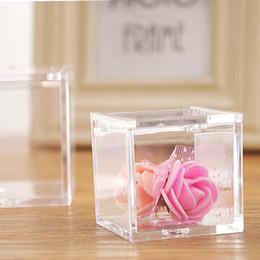 $enCountryForm.capitalKeyWord Australia - Wedding Party Favor Environmental Flip Transparent Plastic Square Packing Box Candy Boxes 2 Sizes free shipping